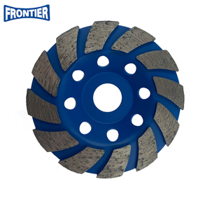 100*16.5/10*3*12*20 High Frequency Diamond Cup Grinding Wheel for Concrete , Stone