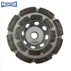 100*30/20*8*5*16*M16mm Silver Brazed 4inch Diamond Double Row Grinding Cup Wheel for Concrete , Stone