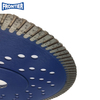 "7"" inch 180x22.23mm 12mm height wave turbo cooling holes diamond saw blade with reinforced center for cutting granite"