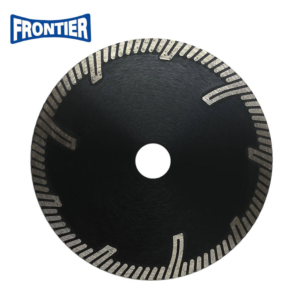 6inch 150*2.4/1.4*8*3*22.23mmmm GU turbo cutting diamond saw blade with protection teeth