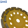180*35/28*7*5*24*22.23mm Cold Press 7inch diamond double row grinding cup wheel for concrete , stone