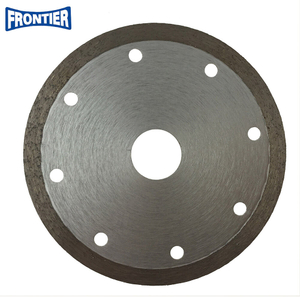 115*1.6/1.2*7*22.23mm Hot Press 4.5inch Continuous Rim Diamond Saw Blade for Cutting Tile