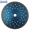 230*2.8/1.8*12*136T*22.23mm/48pcs cooling holes 9inch Hot Press turbo diamond saw blade for dry cutting beton