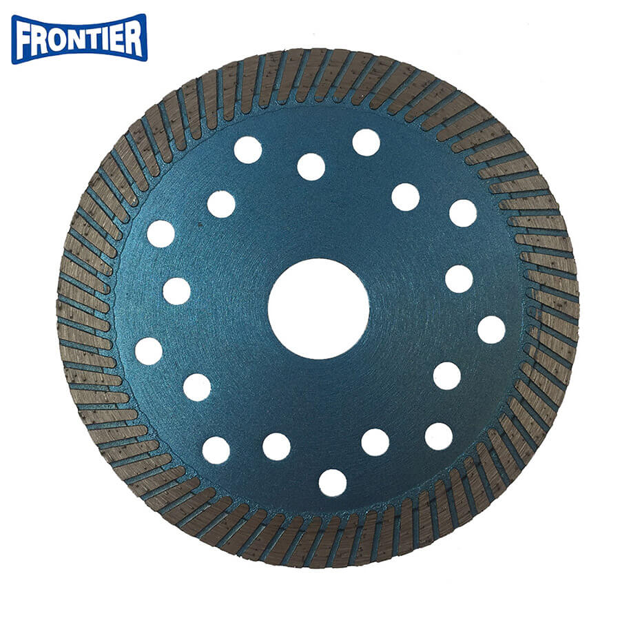 115*2.2/1.2*12*72*22.23mm Hot Press diamond fine turbo saw blade with cooling holes for dry cutting reinforced concrete